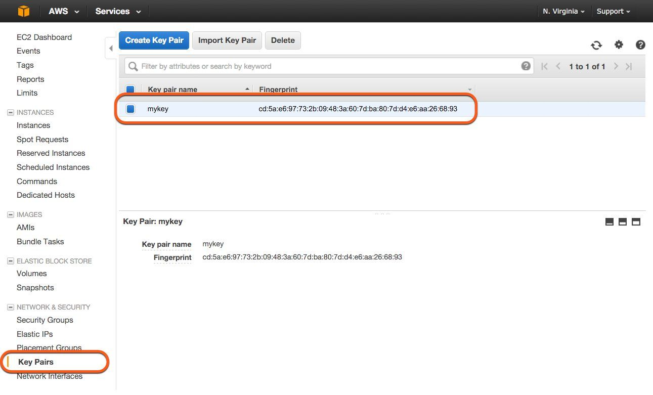 Manage Key Pairs with AWS Management Console