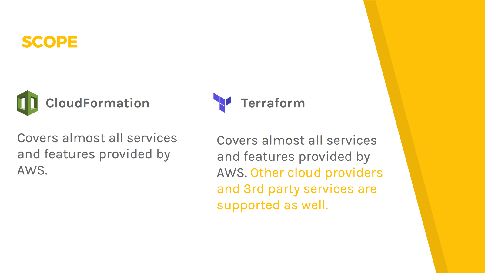 CloudFormation vs  Terraform | cloudonaut