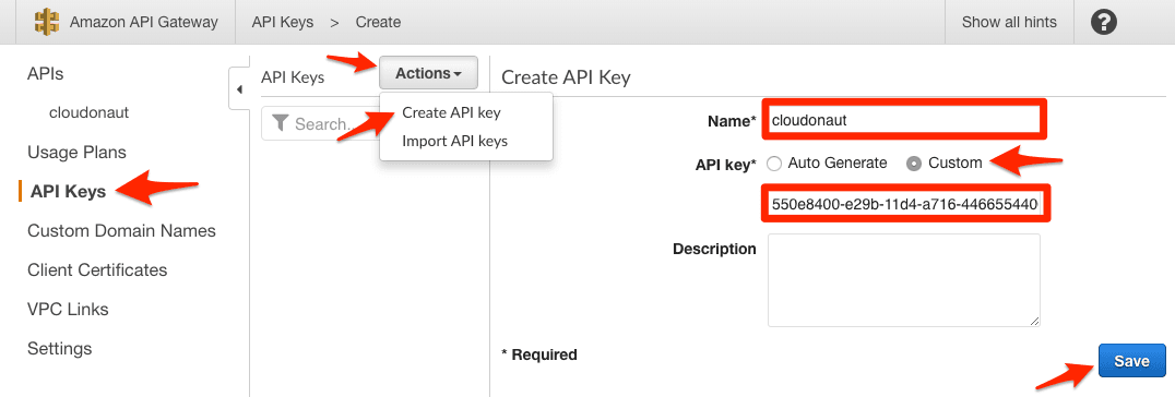 Creating an API Key