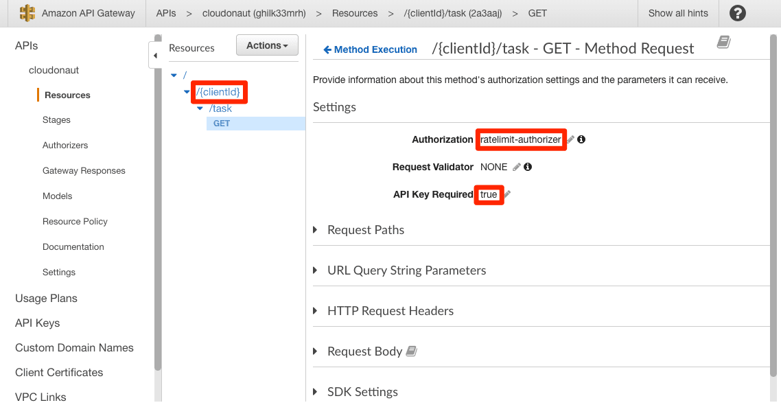 Customized Rate Limiting for API Gateway by Path Parameter, Query